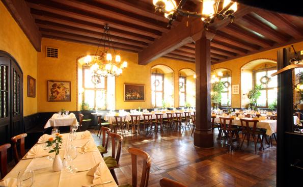 Gastraum im Restaurant Heilig-Geist-Spital